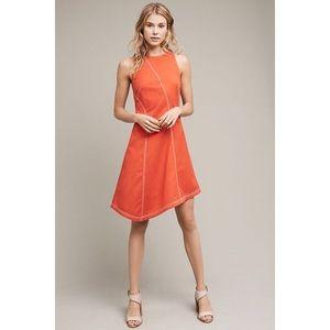 NWT ANTHROPOLOGIE Maeve Asymmetrical Bileu Dress 0
